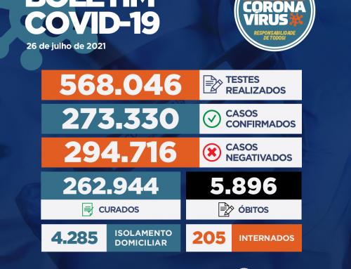 Boletim COVID-19 – 26.07.2021